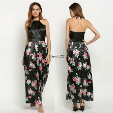 Sexy Women Backless Prom Party Long Dress Floral Formal Evening Gown Dress EA77