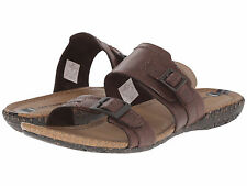 Merrell Women Whisper Slide Sandals Leather J5580 Casual Shoes Brown Size 8 New