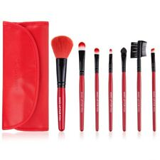 Pro 7 Pcs Portable Cosmetic Wooden Handle Makeup Brushes Set with Pouch Bag