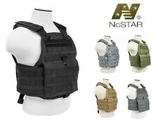 NcStar Plate Carrier Body Armor Molle Vest Tactical Military Police Assault