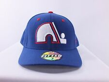 QUEBEC NORDIQUES NHL ADULT (7, 7 3/8, 7 5/8) FITTED CAP HAT (H-24)