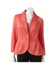 ELLE Ruffle Ponte Blazer Size XS - New with Tags