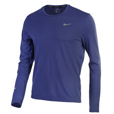Nike Men's Dri-Fit Contour Long Sleeve Tee Training Top Shirts Purple 683522-508