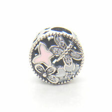 Genuine S925 Silver Springtime Mixed Enamels & Clear CZ Charm