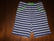 NWT 6/12M or 3/4 Mini Boden Navy & White Striped Jersey Baggies Shorts