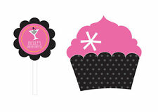 Personalized Bachelorette Bridal Shower Cupcake Wraps Toppers Party Decorations