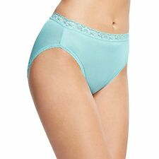 Hanes PP3AS Womens Nylon Hi-Cut Panties 6-Pack - Choose SZ/Color.