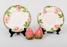 4 Pc. Mixed Lot Franciscan Ware Desert Rose Two Plates and Salt & Pepper Shakers