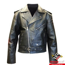 New Black Perfecto Brando Classic Premium Cowhide Leather Motorcycle Jackets
