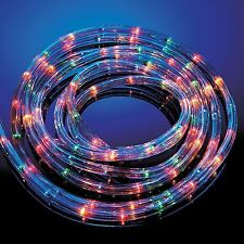 LED MULTI COLORED 6/10/20/25M ROPE LIGHT 8 MOOD INDOOR OUTDOOR XMAS PARTY LIGHT