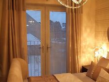 WHITE WOOD VENETIAN PERFECT FIT BLINDS FOR CONSERVATORY WINDOWS & FRENCH DOORS