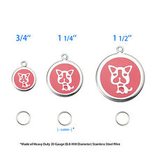 Super Cute & Enduring 316L Pet ID Tag-DOG-Free Custom Engraving,Card,Apps