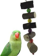 Colorful Wood Pets Birds Parrot Toys Cockatiel Parateer Chew Bite Wooden Toy