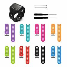 Silicone Watch Band Strap w/Tool for Garmin Forerunner 910XT GPS Sports Watch