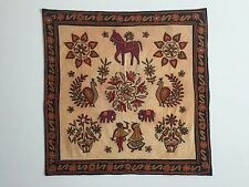 VINTAGE HAND EMBROIDERED INDIA WALL HANGING TAPESTRY TEXTILE
