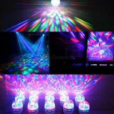 3W E27/B22 Auto Rotating RGB Crystal Ball LED Stage Light Bulb Disco Party Lamp