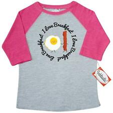 Inktastic Bacon and Egg I Love Breakfast Toddler T-Shirt food lover funny fried