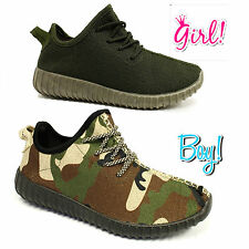 CAMO BOYS & GIRLS TRAINERS BOOST MENS WOMENS TEXTILE RUNNING SHOES PUMPS SIZE