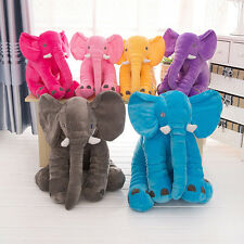 NWT Cute Baby Soft Plush Elephant Sleep Pillow Kid Cushion Toy Large Size Gift