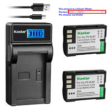 Kastar Battery and LCD Slim USB Charger for Olympus PS-BLM1 C-8080 E-3 EVOLT 510