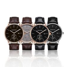 Fashion Waterproof Leather Strap Analog Quartz Student Sport Wrist Watch HR