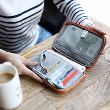 Unisex Travel Passport Document Organizer Credit ID Card Cash Wallet Holder Bag