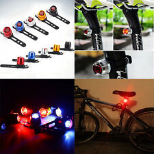 NEW Bike Bicycle Helmet Red Bright LED Rear Light 3 Modes Safety Tail Lamp
