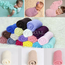 Newborn Baby Girl Boy Crochet Knit Wrap Cocoon Swaddle Photography Photo Props