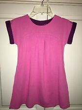 NWT 5/6 9/10 11/12 Mini Boden Cotton Jersey Pink Dress w/ Burgundy Accents