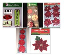 CHRISTMAS CRAFTS Self-Adhesive Embellishments - Various Styles - CHOOSE ONE!