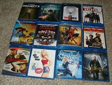 Lot of Blu Ray Bluray Movies You Choose from 34 Blu Rays