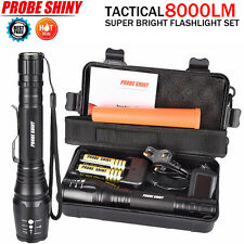 8000LM G700 CREE X800 XML T6 LED Zoom Tactical Military Flashlight Torch Lamp