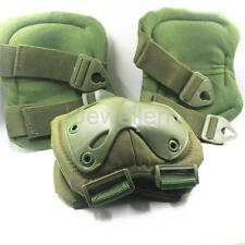 Military Tactical Army Quick Release TPU Elbow & Knee Pads Set Airsoft
