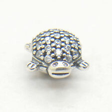 Authentic S925 Silver Sparkling Sea Turtle Clear CZ Charm