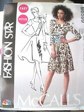 NEW McCALLS SEW PATTERN M6599 EASY MISSES SCARF & DRESS  Sz 6-22 UNCUT