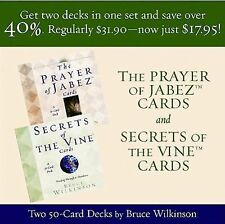 SALE! The Prayer of Jabez and Secrets of the Vine by Bruce Wilkinson (Hardcover)