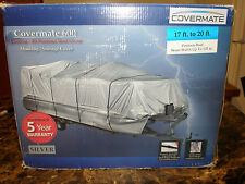 """Covermate HD 600D Pontoon Boat Mooring/Storage Cover, 17'-20''L, 102"""" Max Beam"""