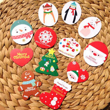 50pcs/lot Mini Merry Christmas Wishing Cards/Tags Xmas Gift Decoration Label AU