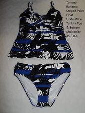 Tommy Bahama Striped Palm Float UnderWire Tankini Top & Bottom Multicolor XS-
