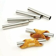 Norpro 6pc Mini Cannoli Stainless Steel Forms Set - Dessert Pastry Baking Molds