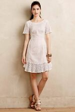NIP Anthropologie Georgia Eyelet Dress HD in Paris Sz 6 Petite $188
