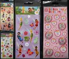 TINKER BELL STICKERS DISNEY FAIRIES -  BUBBLE SCATTER FLOWERS CRAFT KIDS ART