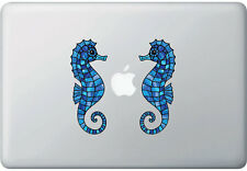 """CLR:MB - Pair of SEAHORSE Stained Glass Vinyl Laptop Decal ©YYDC(2""""w x5""""h)(PAIR)"""