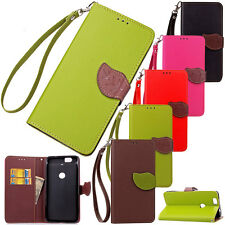 Hybrid PU Leather Flip Wallet Card Stand Case Cover Skin For Google Nexus 6P 5X