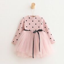 Toddler Baby Girls Polka Dot Dress Long Sleeve Princess Party Dress Kids Clothes