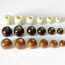 50pcs Wood Spacers Loose Beads Bracelets Charms Findings 10/12/14/16/17/18mm