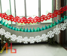 3 style Christmas Paper Hanging Festive Tissue Ceiling Decoration Garland Decor