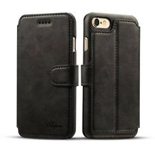 For Apple iPhone 6 6S Plus Magnetic Flip Cover Wallet Card Leather Case Stand