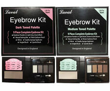 Laval colours Ultimate Brow Kit Eyebrow Make Up Set Powders Wax,& Brush/Mirror