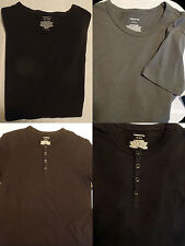 CLAIBORNE Mens Small Medium Shirt Choice Long Sleeve Black or Short Gray NWT